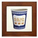 NYC Coffee Cup Framed Tile