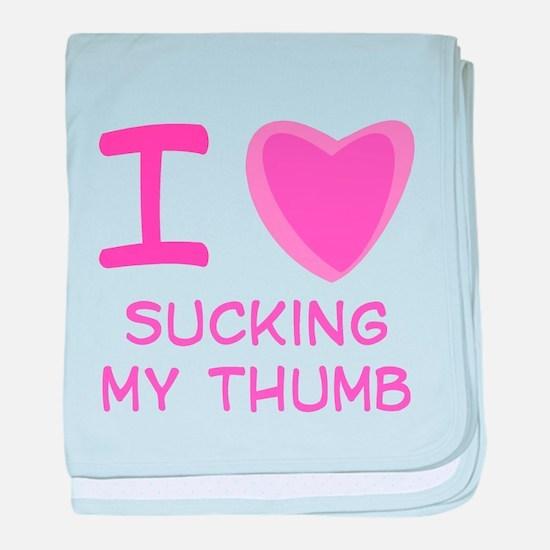 I Heart (Love) Sucking My Thu Infant Blanket