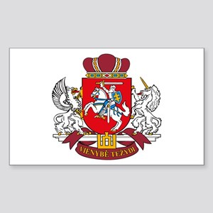 Lithuania Coat of Arms Rectangle Sticker