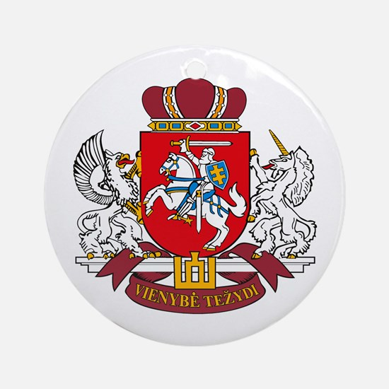 Lithuania Coat of Arms Ornament (Round)