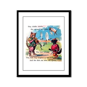Hey Diddle Diddle Framed Panel Print