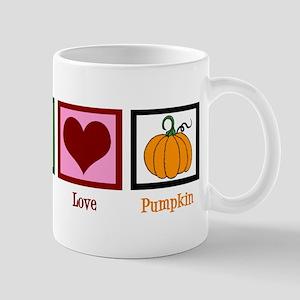 Peace Love Pumpkin Mug