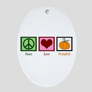 Peace Love Pumpkin Ornament (Oval)