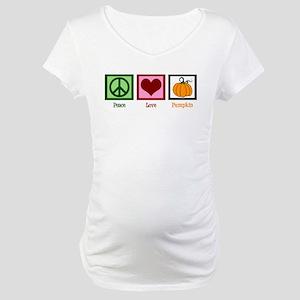 Peace Love Pumpkin Maternity T-Shirt
