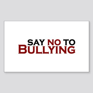 Say No To Bullying Sticker (Rectangle)