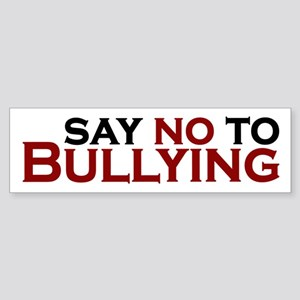 Say No To Bullying Sticker (Bumper)