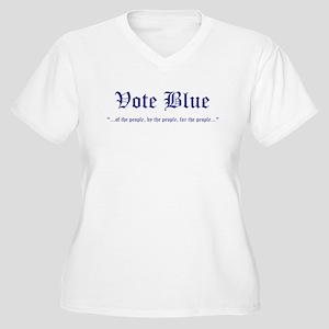 Vote Blue Women's Plus Size V-Neck T-Shirt