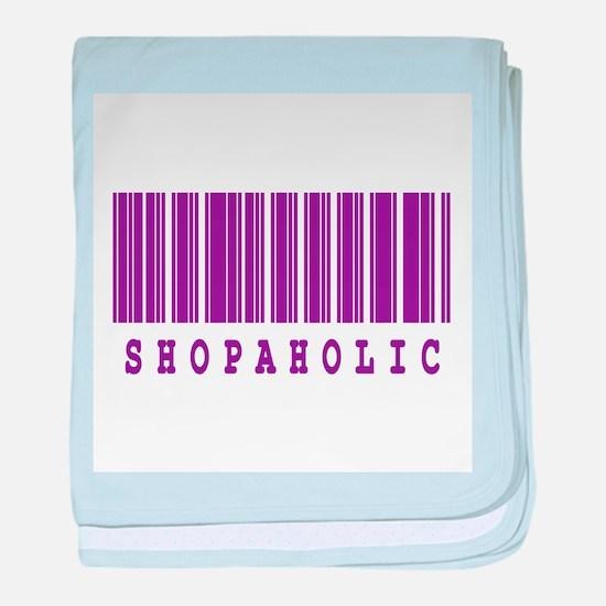 Shopaholic Barcode Design Infant Blanket
