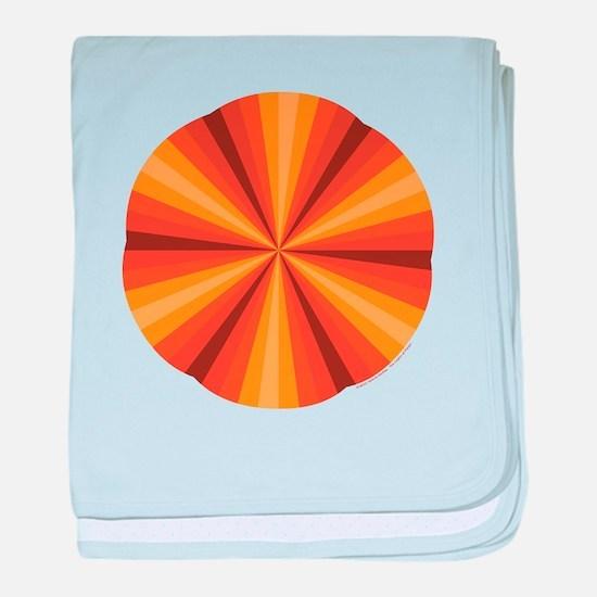 Orange Illusion Baby Blanket