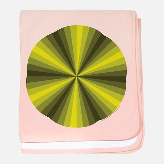 Yellow Illusion Baby Blanket