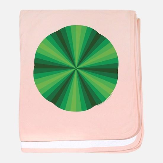 Green Illusion Baby Blanket