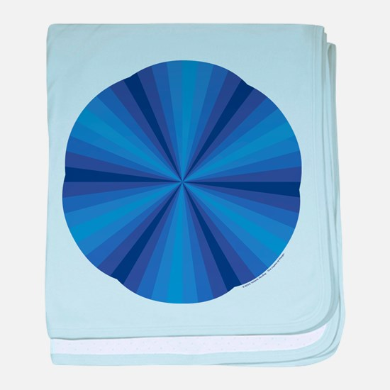 Blue Illusion Baby Blanket