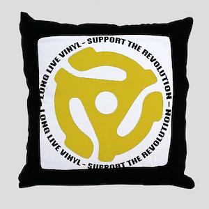 DJ - Long Live Vinyl Throw Pillow