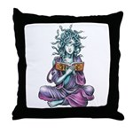Medusa's Muse logo Throw Pillow