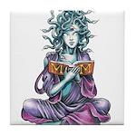 Medusa's Muse logo Tile Coaster