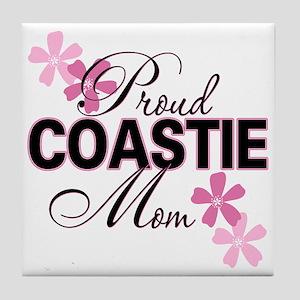 Proud Coastie Mom Tile Coaster