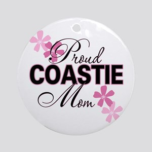 Proud Coastie Mom Ornament (Round)