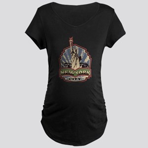 New York City Maternity Dark T-Shirt