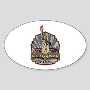 New York City Sticker (Oval)