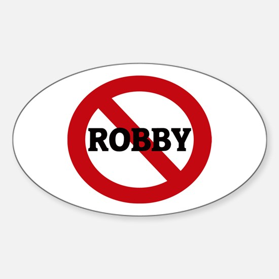 Anti-Robby Oval Decal