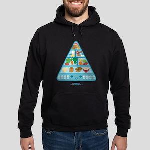 Kawaii Oishi Food Pyramid Hoodie (dark)