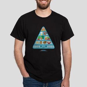 Kawaii Oishi Food Pyramid Dark T-Shirt