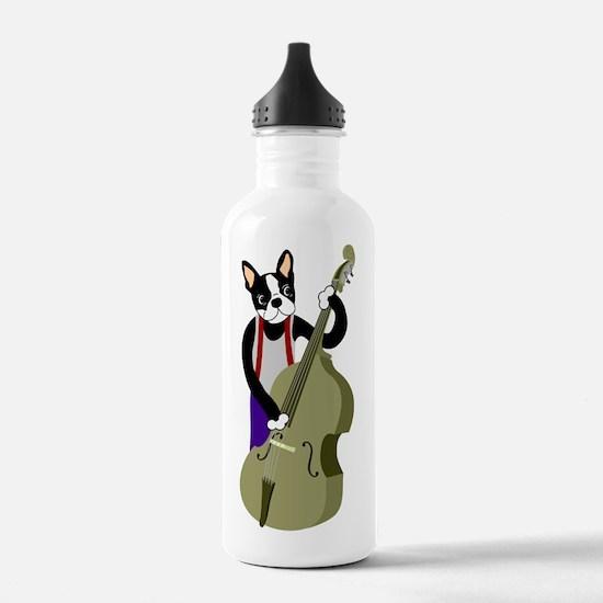 Boston Terrier Bass Water Bottle