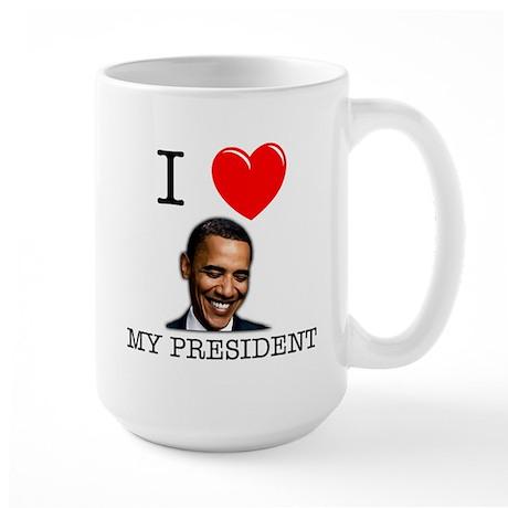 I <3 My President Large Mug