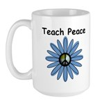 Teach Peace Large Mug