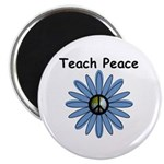 "Teach Peace 2.25"" Magnet (10 pack)"