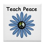 Teach Peace Tile Coaster