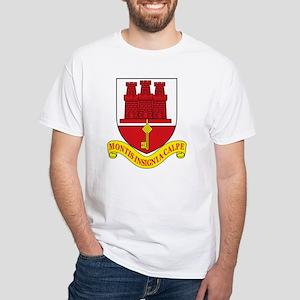 Gibraltar Coat of Arms White T-Shirt