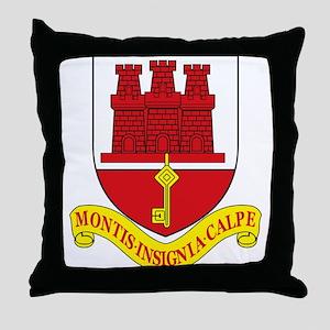 Gibraltar Coat of Arms Throw Pillow