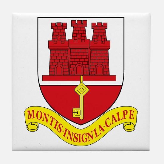Gibraltar Coat of Arms Tile Coaster