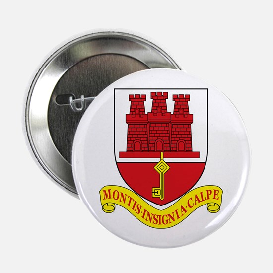 """Gibraltar Coat of Arms 2.25"""" Button (10 pack)"""