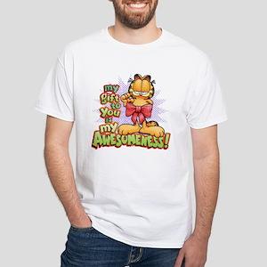 My Awesomeness White T-Shirt