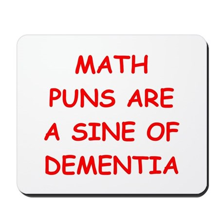 funny math joke Mousepad