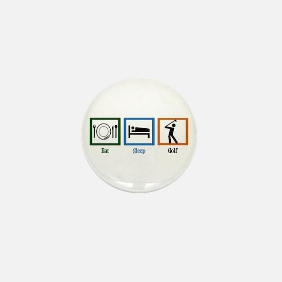 Eat Sleep Golf Mini Button