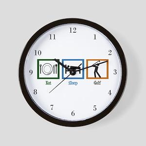 Eat Sleep Golf Wall Clock