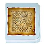 Celtic Letter E Infant Blanket