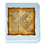 Celtic Letter K Infant Blanket