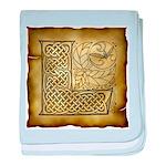 Celtic Letter L Infant Blanket