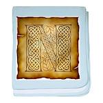 Celtic Letter N Infant Blanket