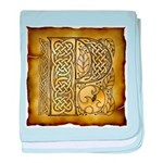 Celtic Letter P Infant Blanket