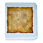 Celtic Letter R Infant Blanket