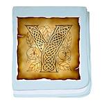 Celtic Letter Y Infant Blanket
