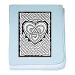 Celtic Knotwork Heart Infant Blanket