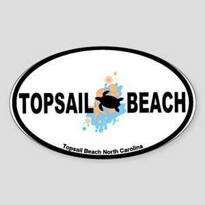 Topsail Beach NC - Seashells Design Sticker (Oval)