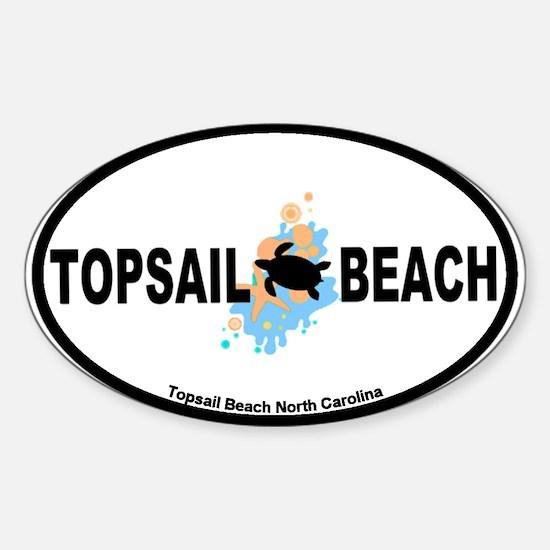 Topsail Beach NC - Seashells Design Sticker (Oval)