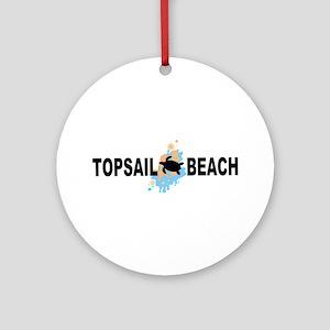 Topsail Beach NC - Seashells Design Ornament (Roun